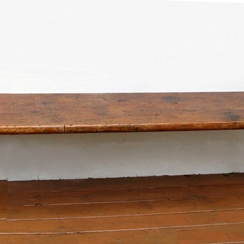 Trestle Style Bench….Massive Flea Market Treasure - Furniture