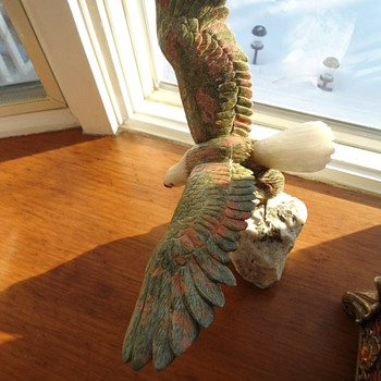 Hand Carved Unakite  Eagle - Animals