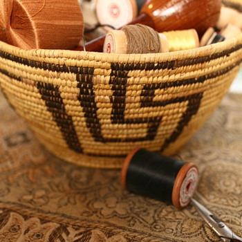 Grandmother's Indian Sewing Basket - Native American