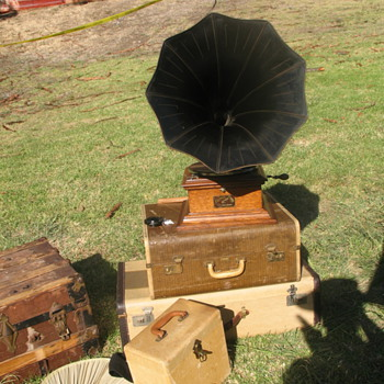 Gatsby Summer Afternoon — Victrola gramophone that survived 1906 earthquake - Art Deco