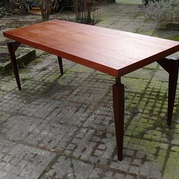 teak or walnut table - Mid-Century Modern