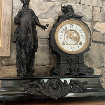 Ansonia clock - has anyone ever seen this figurine? - Clocks