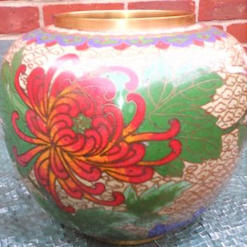 My cloisonne ginger jar