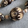 Overdyed celluloid carved necklace
