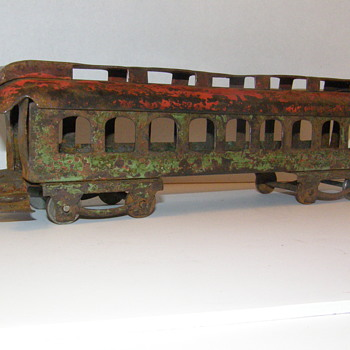 Old Pressed Steel Railroad Train or Trolley Car Unknown Maker? - Model Trains