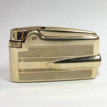 Vintage Ronson 14k gold SHEATH Lighter - Tobacciana