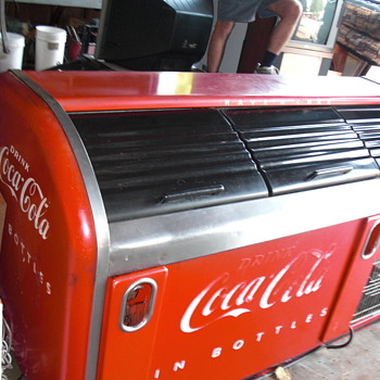 victor coca cola cooler bar, original paint! - Coca-Cola
