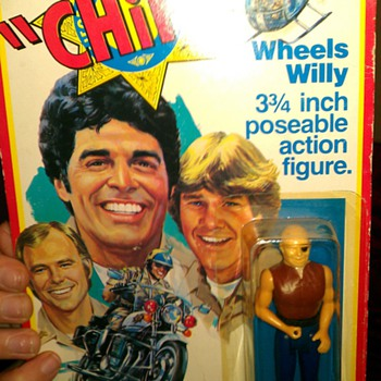 1977METRO-GOLDWYN-MAYER FILM CO MEGO CORP CHiPs Wheels Willy (3 & 3/4 inch poseable action figure)  manufactured by MEGO CORP.