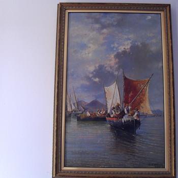 Consalvo Gonsalvo Carelli. Oil on wood.