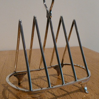 Two Triangular Toast Racks - Silver