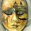 Beautiful hand painted face mask