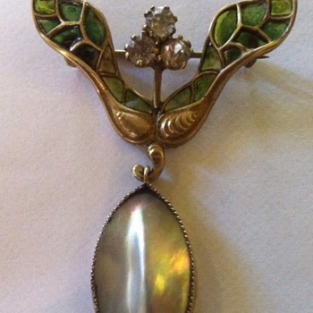 Last addition to enamel restored maple samara pin. - Costume Jewelry