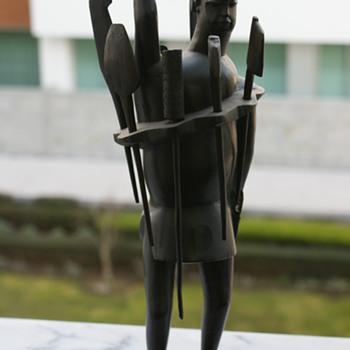 Antique Blackwood African Figure - Folk Art