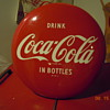 "1950's Coca-Cola 16"" Disc (Button) Sign"