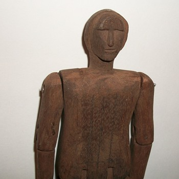 Folk Art Carved Articulated Figure Limberjack Collection Jim Linderman - Folk Art