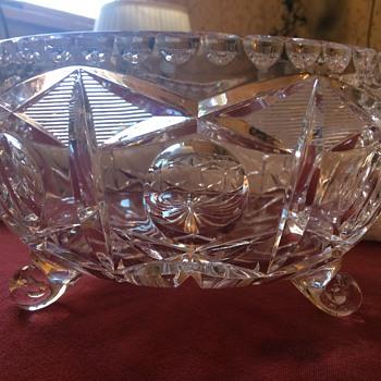 American Brilliant Footed Bowl - Glassware