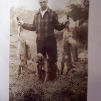 Great Grandpa Claude with fresh kill..... - Photographs