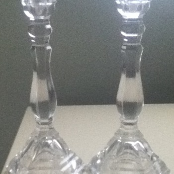 Tiffany & Co Crystal Candleholders - Art Glass