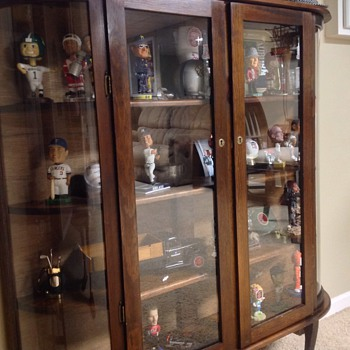 Curved Glass Curio Display Cabinet