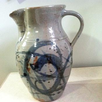 Unmarked salt glazed pitcher - Pottery