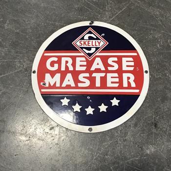 Skelly  Grease Master sign  - Petroliana
