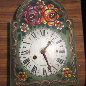 Cute wooden clock, made in West Germany