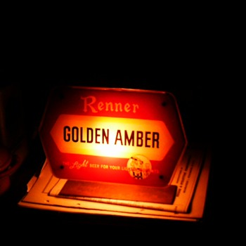 Renner light up sign - Breweriana