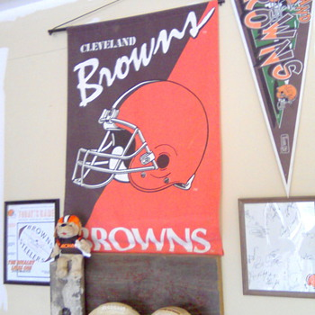 My Cleveland Browns Corner Deep In The Heart of Texas! - Football