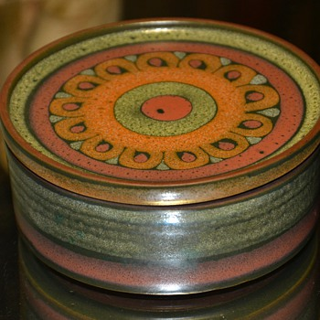 Item #1000 on CW!!  KMK Pottery Trinket Box - West German - 1980s - Lima Pattern. - Pottery
