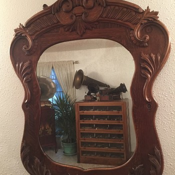 Antique oak mirror - Furniture