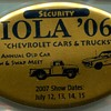Iola Old Car Show Security Badges