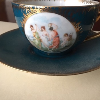Austrian China Cup and Saucer