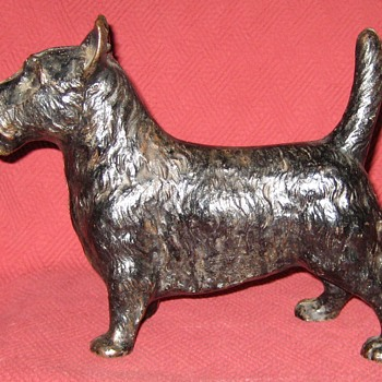 Vintage Cast Iron Scottish Terrier Doorstop