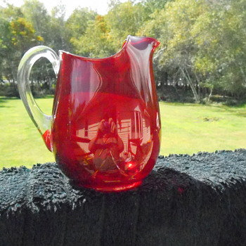 Beautiful Ruby Pitcher - Glassware
