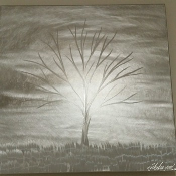 Nicholas Yust 12x12 metal tree art. :)  This is awesome. Oh yet another twist in art to me anyway. :) - Fine Art