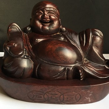 Carved wooden Buddha  - Asian