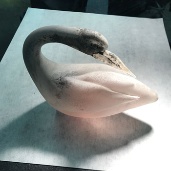 Late 1960's or early 1970's glass swan from Italy, 2 pcs - Art Glass