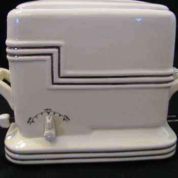 Porcelier Art Deco Ceramic Toaster - Kitchen