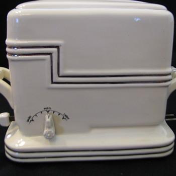 Porcelier Art Deco Ceramic Toaster - Kitchen
