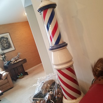 Theo A Koch 6 ft barber pole, owned by Steve McQueen - Advertising