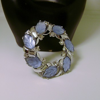 Trifari Wreath Brooch - Allure - Costume Jewelry