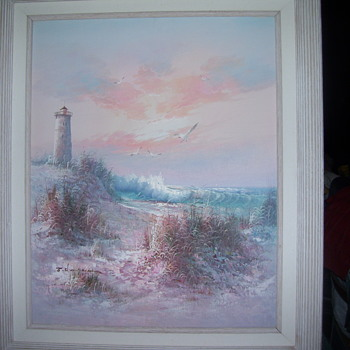 light house painting - Fine Art