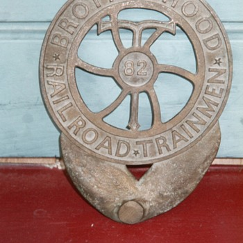 Foundry Mold for Brotherhood of Railroad Trainman Grave Marker - Railroadiana