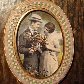 A Lovely Art Deco Era Micromosaic Frame - Fine Art