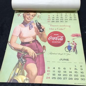1956 Coca Cola calendar complete  - Coca-Cola