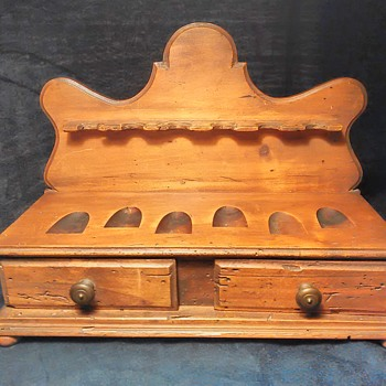 Antique Pipe stand and bureau?  - Tobacciana