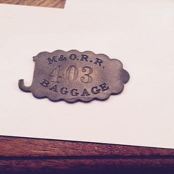 M&O.R.R. Baggage Tag - Railroadiana