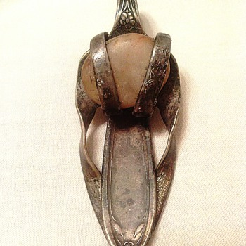 Old Fork Art or Jewelry item? Not sure of its purpose  or what the stone might be??? - Costume Jewelry