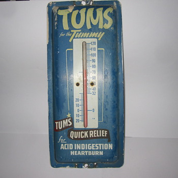 Vintage Tums Outdoor Thermometer - Advertising