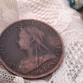 1901 Victoria half penny  - Victorian Era